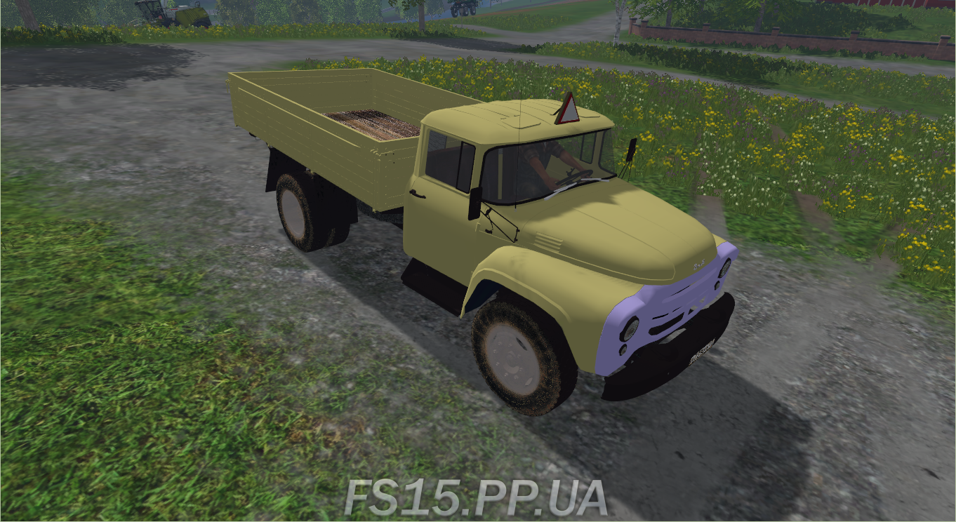 Мод грузовика ЗИЛ ZIL 130 v 1.1 для Farming Simulator 2015